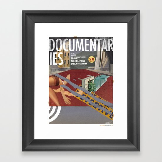 Vans and Color Magazine Customs Framed Art Print