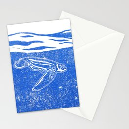 Under the surface, a diving leatherback Stationery Cards