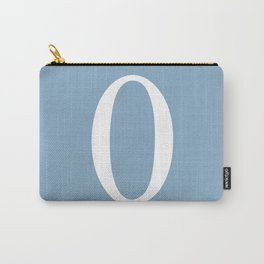 zero sign on placid blue background Carry-All Pouch