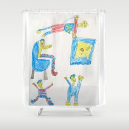 Dad's Workout Time Shower Curtain