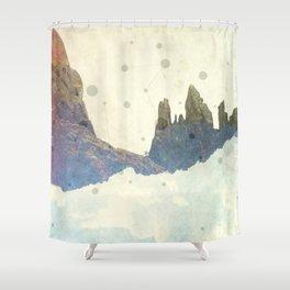 Floating Flatirons Shower Curtain
