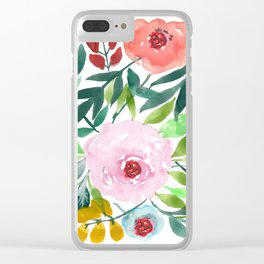 Pink Blossom Clear iPhone Case
