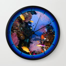 Tropical Fish Great Barrier Reef Coral Sea Wall Clock