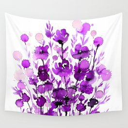 Floral Charm No.1B by Kathy Morton Stanion Wall Tapestry