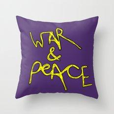 War & Peace Throw Pillow