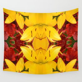 """""""A Gathering of Lilies"""" Remix - 4 (4-1) [D4469~57] Wall Tapestry"""
