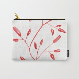 Red Branch One - Watercolor Art Carry-All Pouch