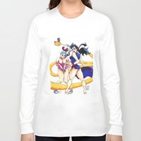 dbz Long Sleeve T-shirts featuring DBZ Pin Up 1 by Juan Pablo Cortes