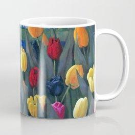 Dutch Tulips, Bright Colorful Flower Painting Coffee Mug