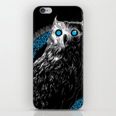 Midnight Owl - Teal iPhone & iPod Skin