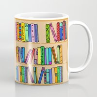 library Mugs featuring The library by andy_panda_