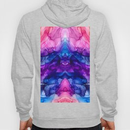 Abstract Rainbow Tie Dye Reflection Hoody