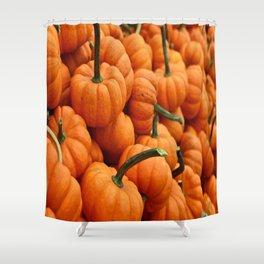 pumpkins, fall  Shower Curtain