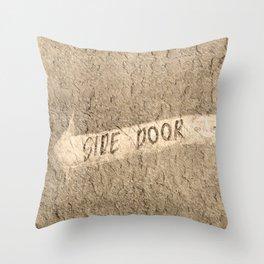 Side Door Throw Pillow