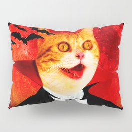 Vampire Cat Pillow Sham