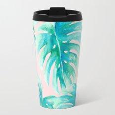 Paradise Palms Blush Travel Mug