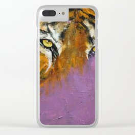 Shadow Tiger Clear iPhone Case
