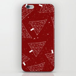 Christmas Trees Red iPhone Skin