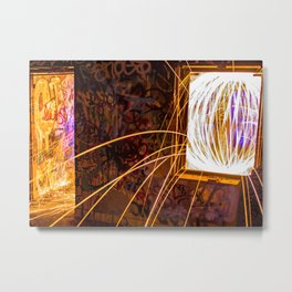 Graff Bomb - Light Painting in Abandoned Ruins Metal Print