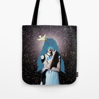 lsd Tote Bags featuring LSD by Mrs Araneae