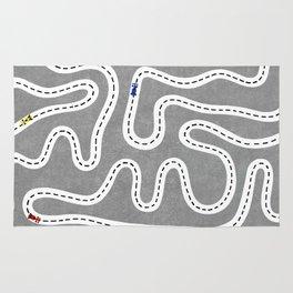Grey Speed Racers Rug