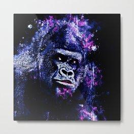 gorilla monkey face expression wscb Metal Print