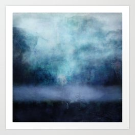 Atmosphere in blue Art Print