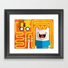 Finn & Jake - PopGeometry #4 Framed Art Print