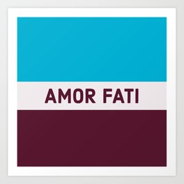 AMOR FATI - STOIC WISDOM Art Print