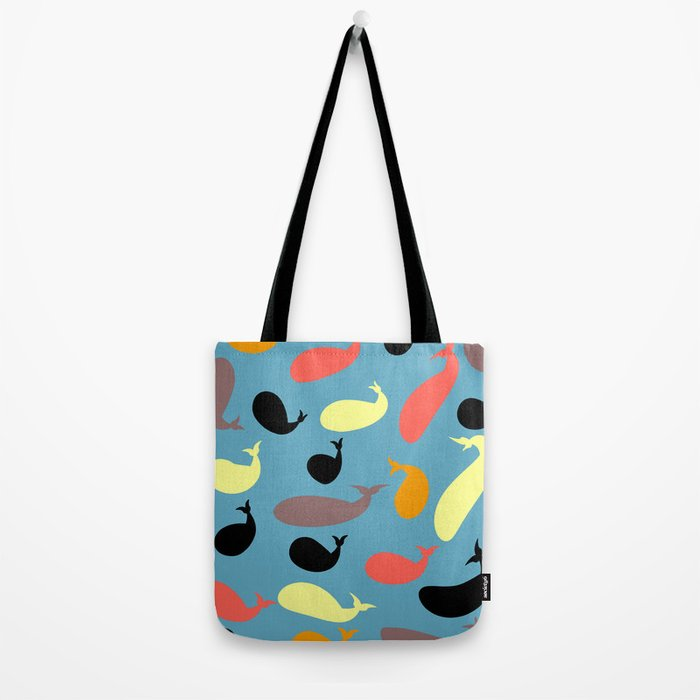Colorful whales Tote Bag