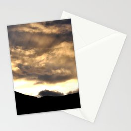 SUNSET THRU THE HEAVY RAIN CLOUDS Stationery Cards