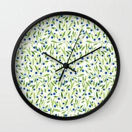 Blueberry Fields Wall Clock