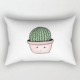 Cute smiling cactus Rectangular Pillow