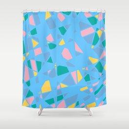 Teal Terrazzo Shower Curtain