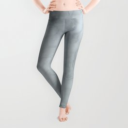 Elegant Blue Grey Marble Leggings