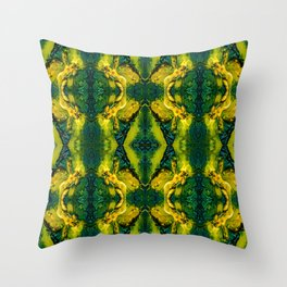 Nomi Malone Green Goddess Throw Pillow