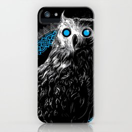 Midnight Owl - Teal iPhone Case