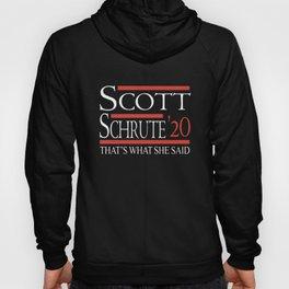 scott schrute 20 thats what she said nerd Hoody