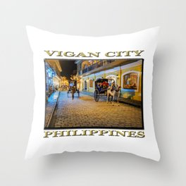 Vigan City, Philippines (poster edition) Throw Pillow