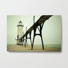 Manistee Light Metal Print