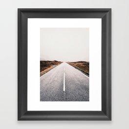 ROAD - HIGH WAY - LANDSCAPE - PHOTOGRAPHY - NATURE - ADVENTURE - SKY Framed Art Print