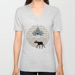 A Moose finds home Unisex V-Neck