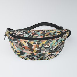 Dark and Pastel Triangle Pattern Fanny Pack