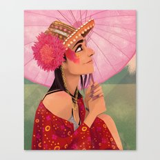 festival fashion Canvas Print
