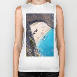 Hidden Beach & Shipwreck 2 Biker Tank