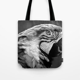 Black & White Parrot  Tote Bag