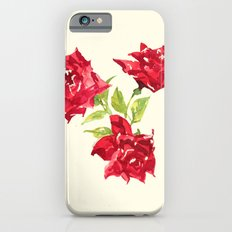 Three Red Roses iPhone 6s Slim Case