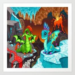 Baby Dragons Art Print