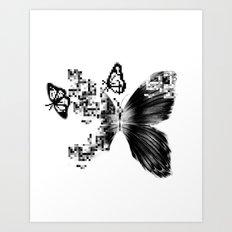 pixelated Art Print