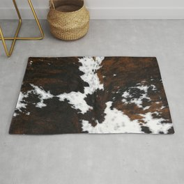 Brown Cowhide, Farmhouse decor Rug